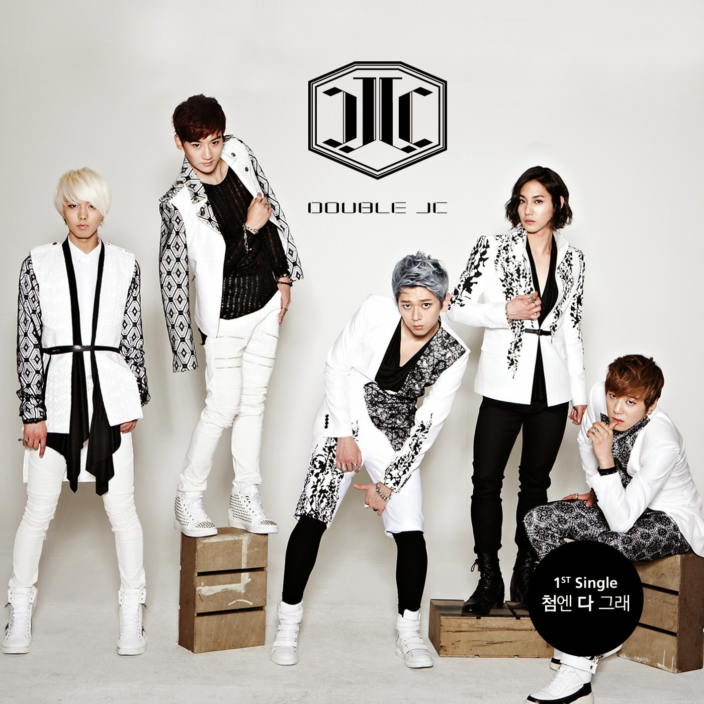 SimBa, EDDY, Prince Mak, E.co, and San-Cheong pose on their first mini album's cover./via Google