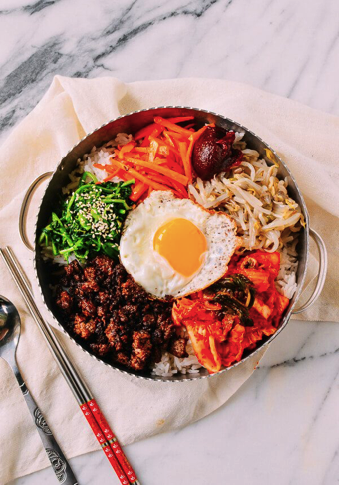 The easiest and healthy homemade bibimbap if you are a big fan of korean food but you dont have time to go to restaurants all the time try making some easy healthy homemade bibimbap forumfinder Choice Image