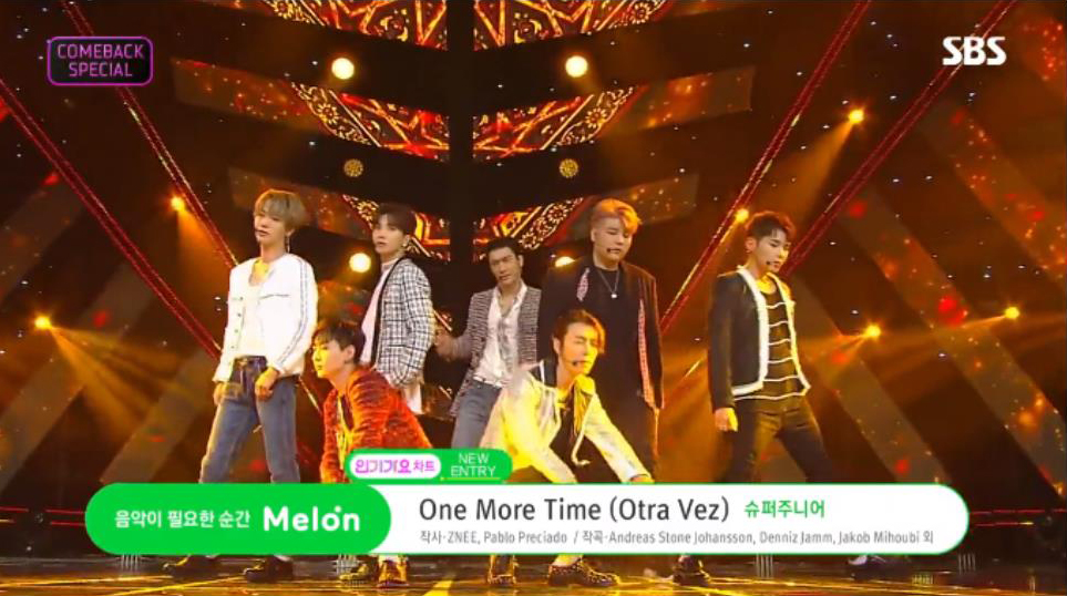 Super Junior Announced Their Come Back With a Fascinating Performance at Inkigayo