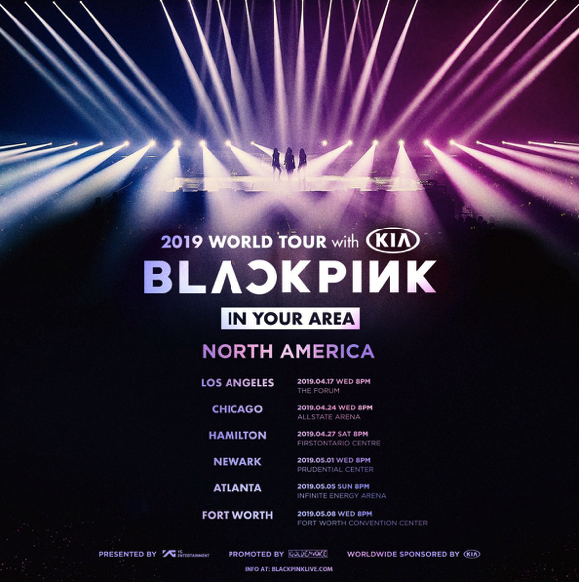 blackpink in your area tour dates  cities announced