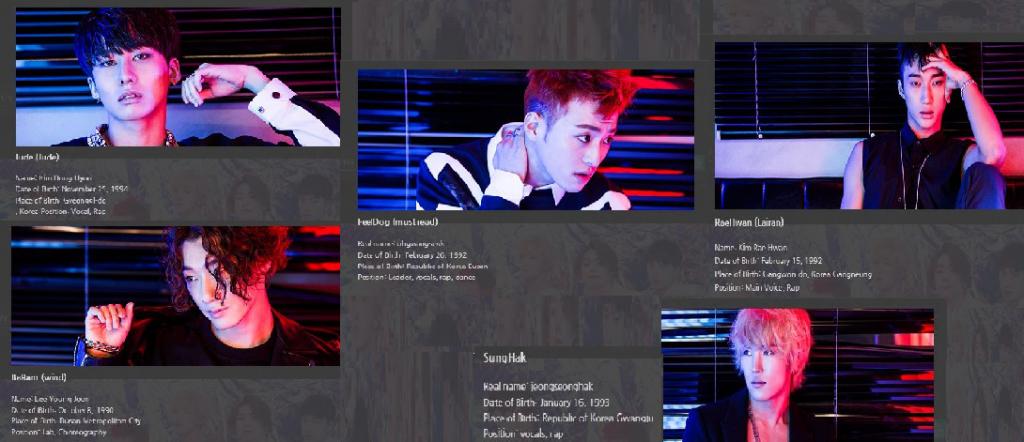 Photos of BIGSTAR from Brave Entertainment's official website - http://bigstar.bravesound.com.