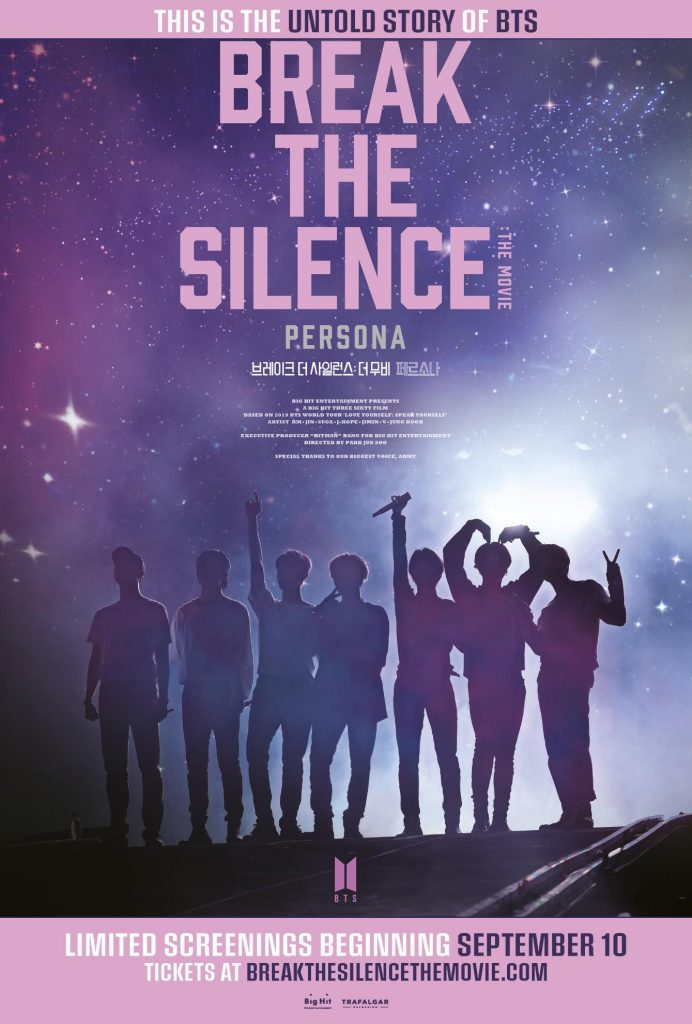 Tickets On Sale Beginning Today In Select Territories For New BTS Feature Film – BREAK THE SILENCE: THE MOVIE In Theaters Starting September 10
